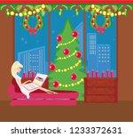 christmas online shopping   Shutterstock . vector #1233372631