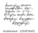 Stock vector template old vintage text unreadable i illegible handwriting 1233376651
