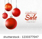 christmas and happy new year... | Shutterstock .eps vector #1233377047