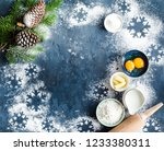 christmas new year food...   Shutterstock . vector #1233380311