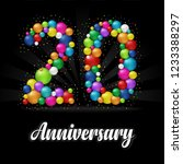 20 years anniversary colorful... | Shutterstock .eps vector #1233388297