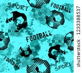 abstract seamless football... | Shutterstock .eps vector #1233388537