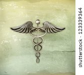 caduceus  old style vector | Shutterstock .eps vector #123339364