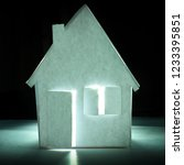 paper house paper background... | Shutterstock . vector #1233395851