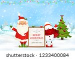 merry christmas. happy new year....   Shutterstock .eps vector #1233400084