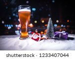 mug of beer with christmas... | Shutterstock . vector #1233407044