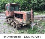 old broken tractor   Shutterstock . vector #1233407257