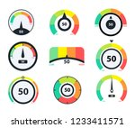 speedometer icons. business... | Shutterstock .eps vector #1233411571