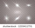 glow light effect. star burst... | Shutterstock .eps vector #1233411751