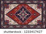 persian carpet  tribal vector... | Shutterstock .eps vector #1233417427