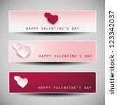 valentine's day banner designs | Shutterstock .eps vector #123342037