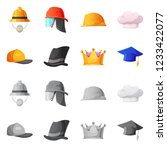 vector illustration of headgear ... | Shutterstock .eps vector #1233422077