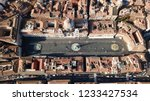 aerial drone view of iconic... | Shutterstock . vector #1233427534