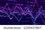 stock market graph. big data... | Shutterstock . vector #1233427807