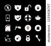 safe icon. safe vector icons... | Shutterstock .eps vector #1233428707