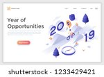 landing page template with 2019 ... | Shutterstock .eps vector #1233429421