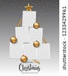 merry christmas photo frame... | Shutterstock .eps vector #1233429961