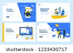 set of flat design web page... | Shutterstock .eps vector #1233430717