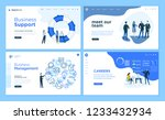 set of flat design web page... | Shutterstock .eps vector #1233432934