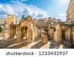 ancient roman amphitheatre in... | Shutterstock . vector #1233432937