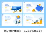 set of flat design web page... | Shutterstock .eps vector #1233436114