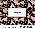 floral pattern. flower... | Shutterstock .eps vector #1233439144