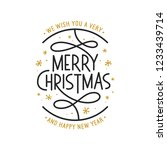 merry christmas and happy new... | Shutterstock .eps vector #1233439714