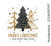 merry christmas and happy new...   Shutterstock .eps vector #1233439747