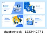 set of flat design web page... | Shutterstock .eps vector #1233442771