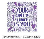 your only limit is you. vector... | Shutterstock .eps vector #1233445327