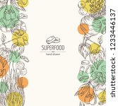 background with super food ... | Shutterstock .eps vector #1233446137