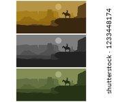 wild west background  vector... | Shutterstock .eps vector #1233448174