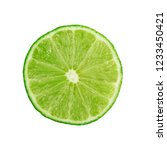 sour key section or slice of... | Shutterstock . vector #1233450421