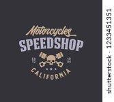 motorcycle speedshop t shirt... | Shutterstock .eps vector #1233451351