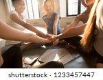 young diverse girls start new...   Shutterstock . vector #1233457447
