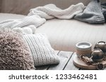 still life from home interior... | Shutterstock . vector #1233462481