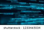digital background matrix. data ... | Shutterstock . vector #1233465034