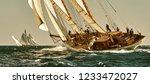 luxury sailing yacht under sail.... | Shutterstock . vector #1233472027