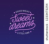 sweet dreams good night... | Shutterstock .eps vector #1233473254