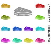 sandwich icon in multi color....