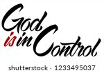 god is in control. christian... | Shutterstock .eps vector #1233495037