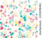 falling stars. hand drawn...   Shutterstock .eps vector #1233498481