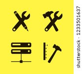 hardware icon. hardware vector... | Shutterstock .eps vector #1233501637