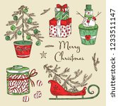 christmas and new year... | Shutterstock .eps vector #1233511147