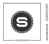 initial letter s logo template... | Shutterstock .eps vector #1233511207