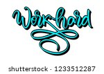 work hard flourished... | Shutterstock .eps vector #1233512287