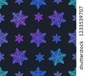 snowflakes seamless pattern....   Shutterstock .eps vector #1233539707