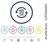 undelete flat color icons in... | Shutterstock .eps vector #1233566641