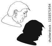 donald trump profile outline... | Shutterstock .eps vector #1233571954