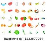 vitamins vector. essential... | Shutterstock .eps vector #1233577084